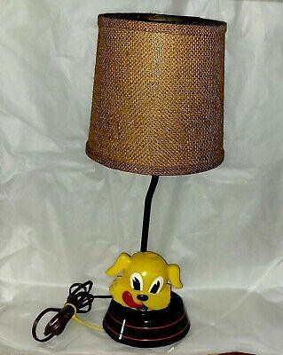Rare Vintage 1950s Ken-L Ration Fido Lamp Dog Food works FREE SHIP