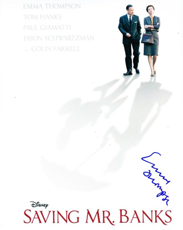 EMMA THOMPSON SIGNED 8X10 PHOTO SAVING MR. BANKS P.L. TRAVERS DISNEY PROOF COA A
