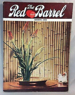 1941 COCA COLA Red Barrel Flowers Magazine Drug Store SODA FOUNTAIN Potash