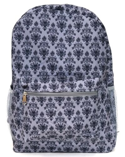 New Disney Parks The Haunted Mansion Grey Black Wallpaper Backpack