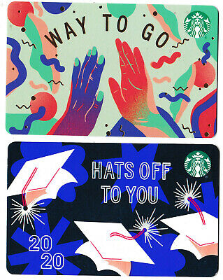 gift cards STARBUCKS restaurant Canada collectible card Way to go Hats off