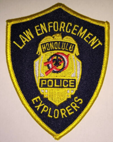 Honolulu Hawaii Police Law Enforcement Explorers Patch // FREE US SHIPPING!