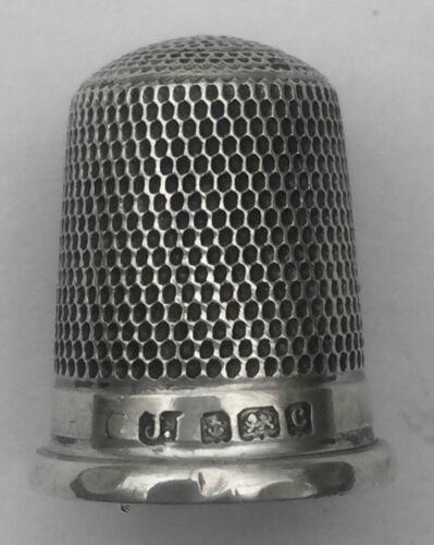 Antique James Fenton Sterling Silver Thimble Birmingham 1902 Pretty Fluted Rim