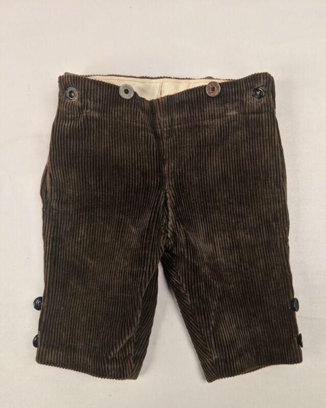 ANTIQUE VICTORIAN 19THC BOYS CORDUROY SHORT PANTS