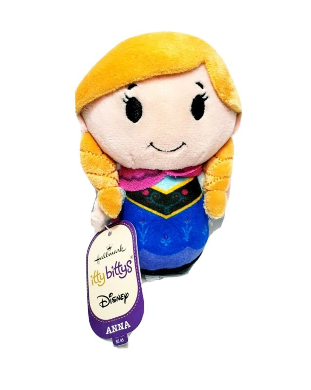 Hallmark Itty Bittys Disney Frozen Anna Plush Doll Toy
