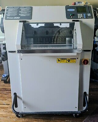 Challenge Titan 200 Programmable Paper Cutter Fully Serviced  Extra Blade
