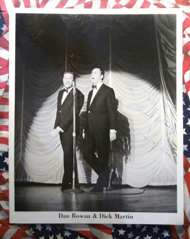 8X10 BW PHOTOGRAPH  DICK MARTIN AND DAN ROWEN.  LIFETIME COA