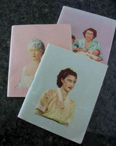 Royal Family Souvenir Booklets 1940-50s Queen Mary Princess Anne & Margaret Rare