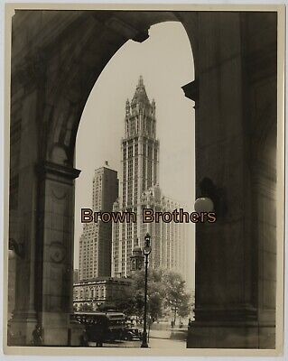 Vintage 1910s NYC Woolworth Building Highest Building in World Photos #12 (2p)