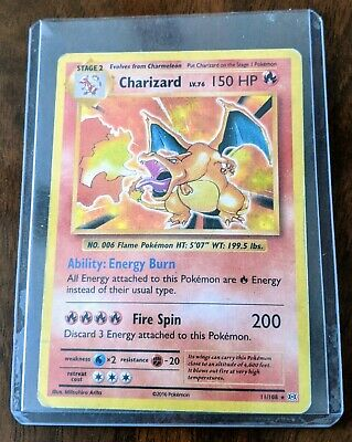 Pokemon XY Evolutions Charizard 11/108 Rare Holo Card