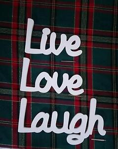 Live Love Laugh - Set of 3 Inspirational Words by SPLOSH Bethania Logan Area Preview