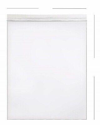 25- 20x24 Zip Lock 2 Mil Reclosable Resealable Clear Ziplock Plastic Poly Bags