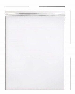 25- 8x10 Zip Lock 2 Mil Reclosable Resealable Clear Ziplock Plastic Poly Bags