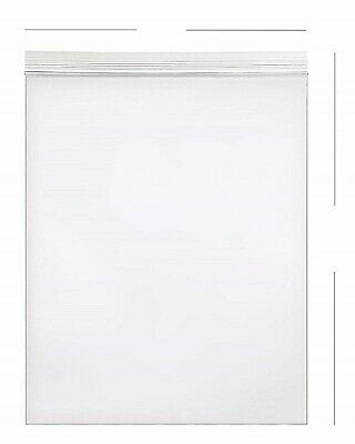 500- 9x12 Zip Lock 2 Mil Reclosable Resealable Clear Ziplock Plastic Poly Bags
