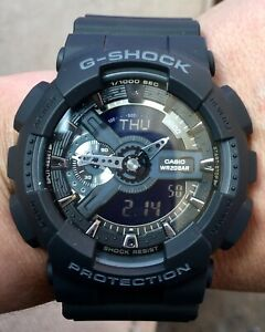Casio G-Shock GA-110-1B Analog Digital Mens Watch (Black) *BNIB*