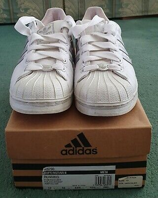 ADIDAS SUPERSTAR 2 TRAINERS WHITE SILVER STRIPE MENS SIZE 10 VINTAGE CODE 665790