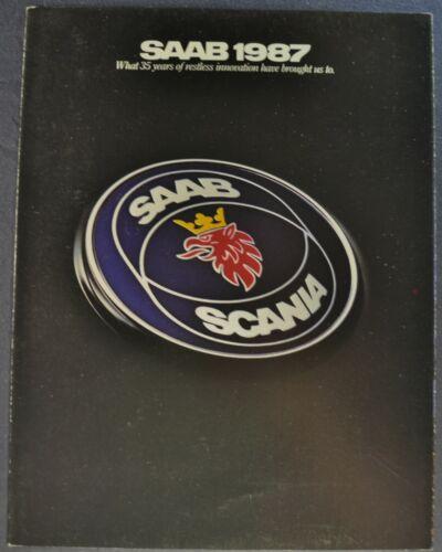 1987 Saab Brochure Folder 9000 S 900 Turbo SPG Convertible Excellent Original 87