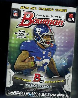2015 BOWMAN NFL Football Sealed Box 8 Packs TODD GURLEY WINSTON MARIOTA ROOKIE