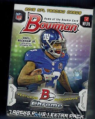 Bowman Nfl Football Cards Box - 2015 BOWMAN NFL Football Sealed Box 8 Packs TODD GURLEY WINSTON MARIOTA ROOKIE
