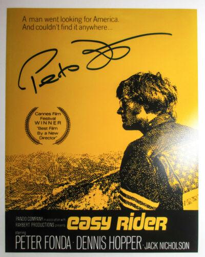 Peter Fonda Signed EASY RIDER 11x14 Movie Poster Photo EXACT Proof COA Cannes