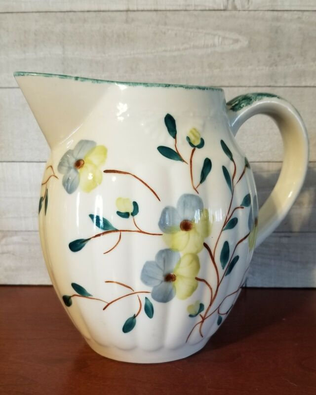 Blue Ridge China Vase Pitcher Hand Painted Southern Galleries Made in the USA