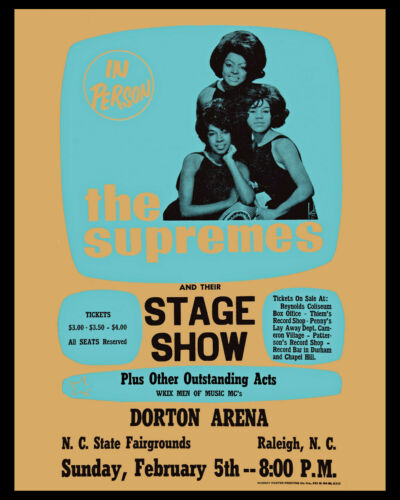 The Supremes - Wall Art of 1967 Concert Poster, 8x10 Photo