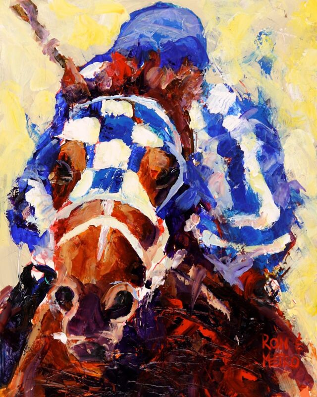 Secretariat Art Print form Painting | Horse Racing Gifts | Home Decor 8x10