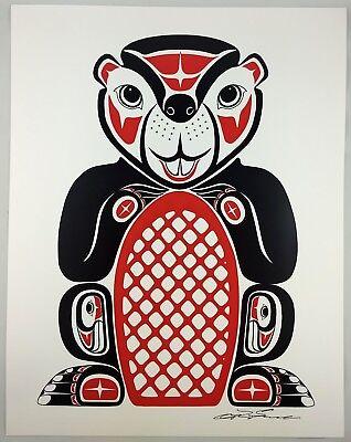 Beaver Lon French Signed Print Haida Northwest Coast Native Art for sale  Surrey