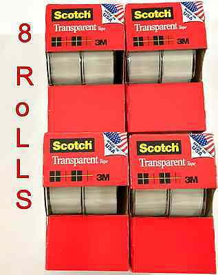 8pc 3m Scotch Tape Clear Office Transparent 34 250 W Desktop Dispenser Lot