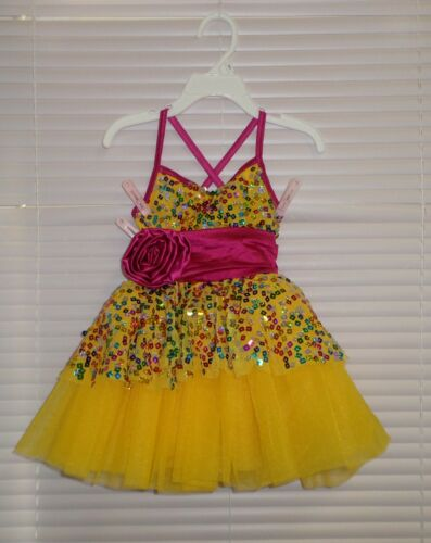 Weissman Costumes Rainbow Sequin Tutu Tap Jazz Dance Size XSC