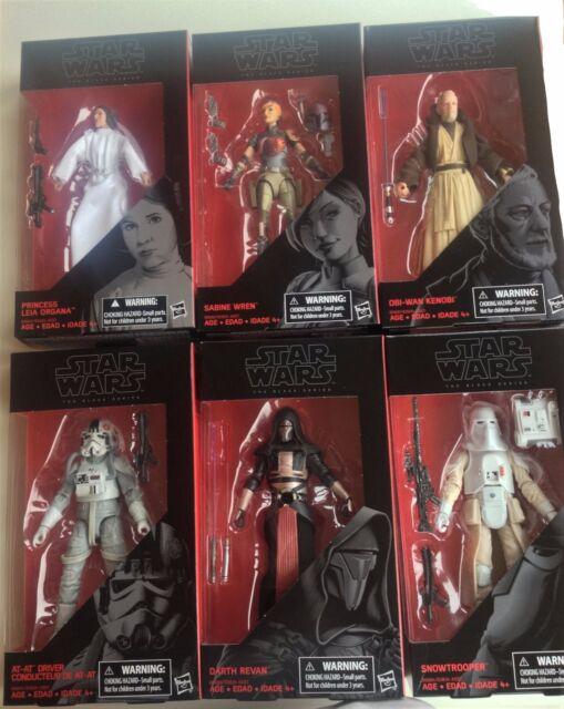 "Star Wars The Black Series Darth Revan Sabine Wren Leia Obi Wan 6"" Figure Set"