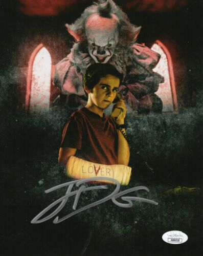 "Jack Dylan Grazer Autograph Signed 8x10 Photo - It ""Eddie Kaspbrak"" (JSA COA)"