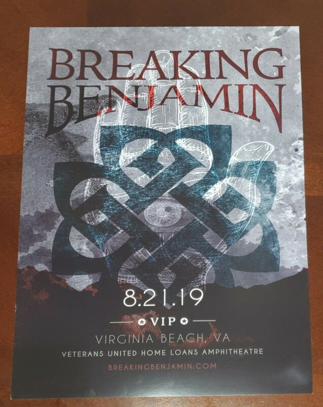Breaking Benjamin VIP Tour Poster Lithograph 11x17