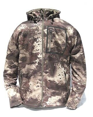 1f70edad243a9 Cabela's Men's Lookout Series Fleece Hooded Silent Hunting Jacket O2 Octane  Camo
