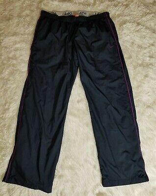 Nike Womens blue- Nylon Lined Track Wind Pants Sz XL Elastic Waist.      (Dep11)