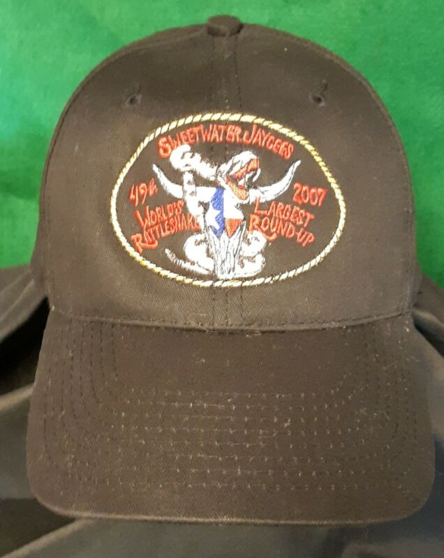 2007 SWEETWATER TEXAS JAYCEES 49TH ANNUAL RATTLESNAKE ROUNDUP OFFICIAL CAP