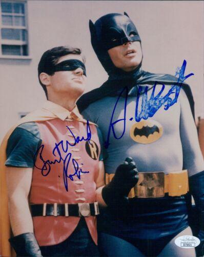 Batman Adam West and Burt Ward Signed 8x10 Glossy Photo JSA Authenticated (DMG)