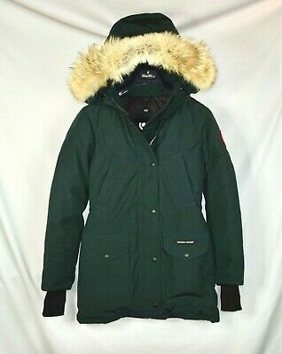 Nwt Mujer Canada Goose Trillium Parka Talla 2XS Piel Abajo Abrigo Verde...