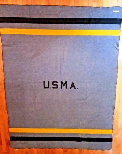 USMA West Point Military Cadet Wool Blanket Vintage