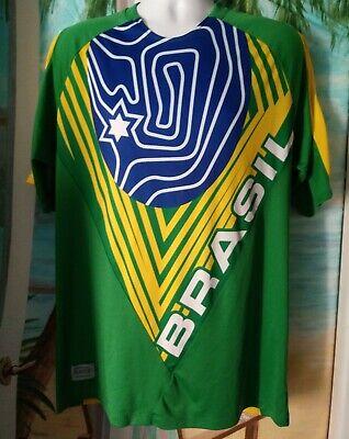 Brasil Puma~Soccer jersey~Israel 2005 17th maccabiah~RARE~ LARGE~ image