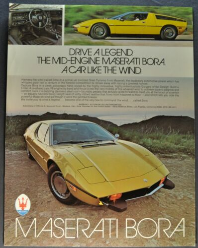 1975 Maserati Bora Sales Brochure Sheet Excellent Original 75
