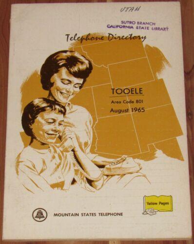 1965 UTAH TELEPHONE DIRECTORY, TOOELE, AREA CODE 801