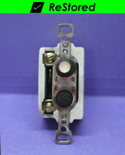 💡 Vintage Push Button Light Switch Single-Pole Porcelain Mother-of-Pearl Cutter