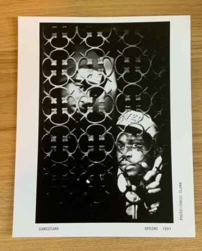 "Gang Starr  DJ Premier Rap hip Hop promo Press photo 8x10"" 1991"
