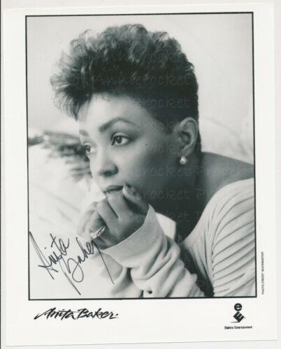 Anita Baker Signed 8x10  Electra Records Promo Talk To Me Publicity Photo-1990
