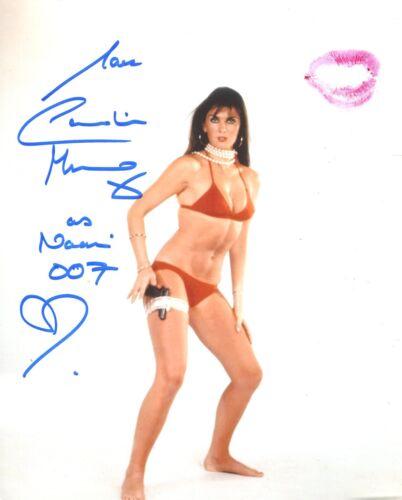 Caroline Munro signed and personally kissed 8x10 photo UACC DEALER SIGNING