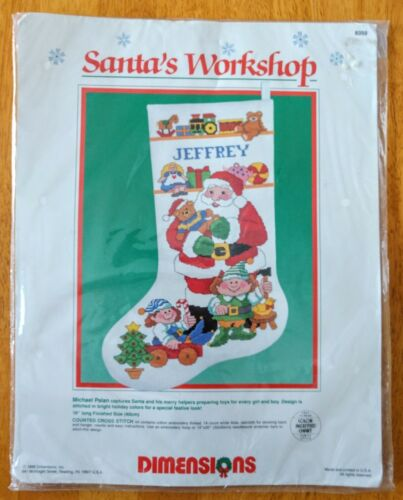1988 Dimensions Santa's Workshop Christmas Cross Stitch Stoc