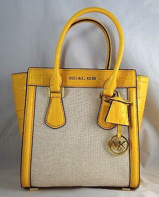 Michael Michael Kors Colette Sun Leather Trim Medium Messeger Satchel Bag