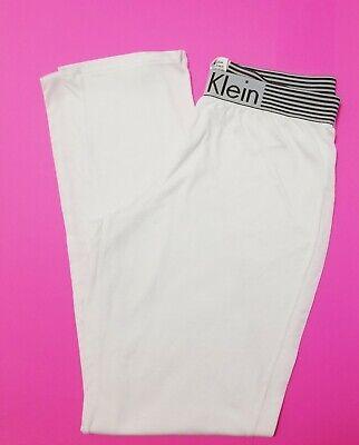 CK Calvin Klein Sleepwear Women Small Full Elastic Waist Pajama Pants.White  Calvin Klein Womens Sleepwear