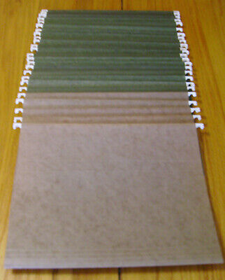 25 Used Hanging File Folders - Letter Size - 15 Cut - Greenbrown - No Tabs